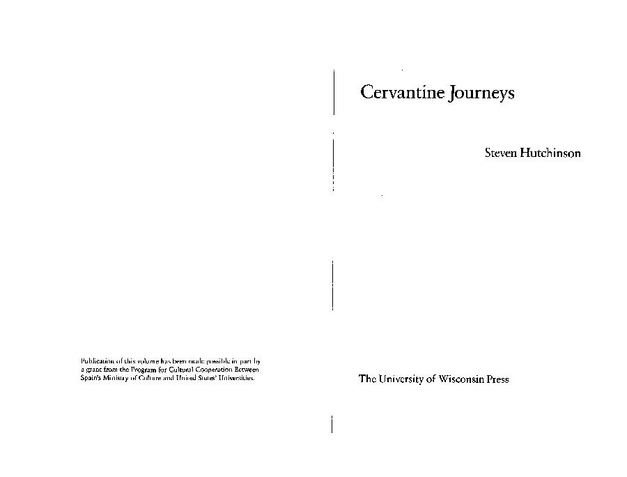 PDF) Cervantine Journeys (book)   Steven Hutchinson