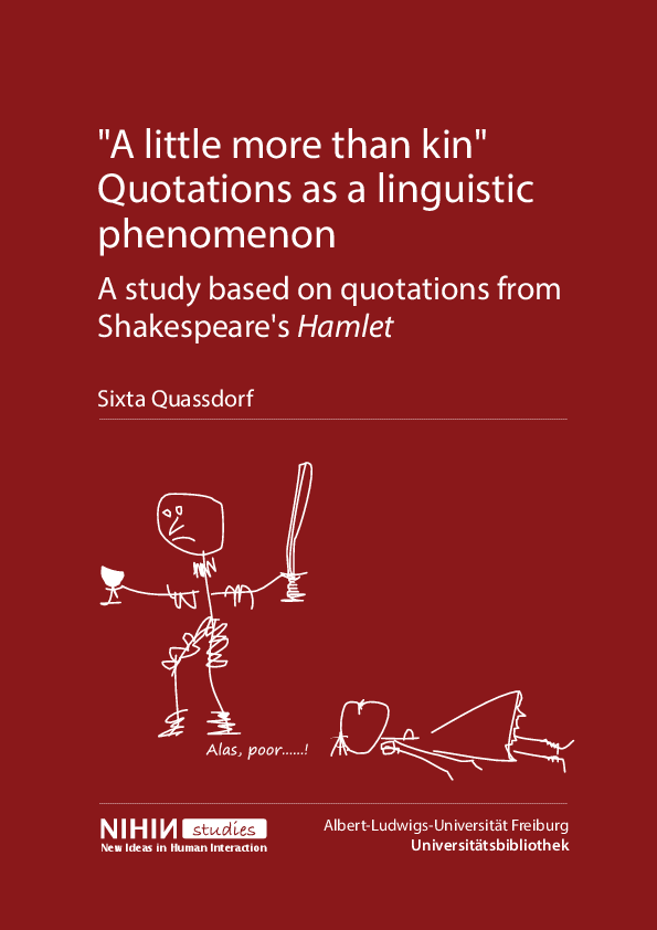 Pdf A Little More Than Kin Quotations As A Linguistic Phenomenon