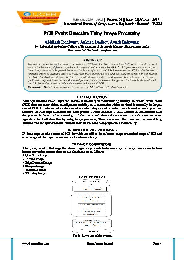 PDF) PCB Faults Detection Using Image Processing