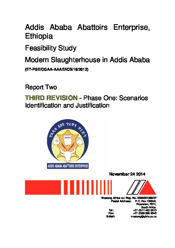 PDF) Addis Ababa Abattoirs Enterprise, Ethiopia Feasibility Study