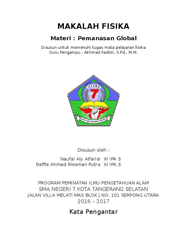 Doc Makalah Fisika Pemanasan Global Raffie Ahmad Riesman Putra Academia Edu