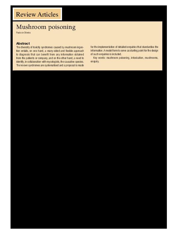 PDF) Mushroom Poisoning (editors translation of the original
