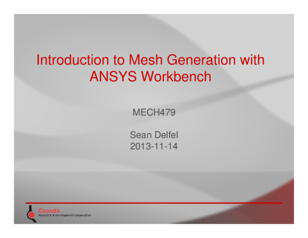 PDF) Introduction to Mesh Generation with ANSYS Workbench