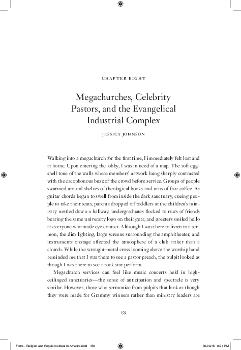 PDF) Megachurches, Celebrity Pastors, and the Evangelical
