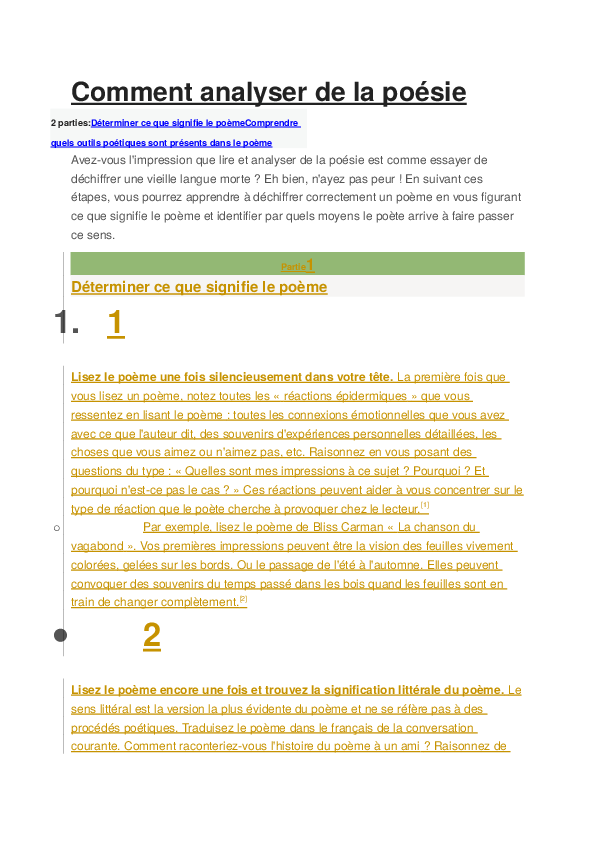 Doc Comment Analyser De La Poésie Hafsa Jouria Academiaedu