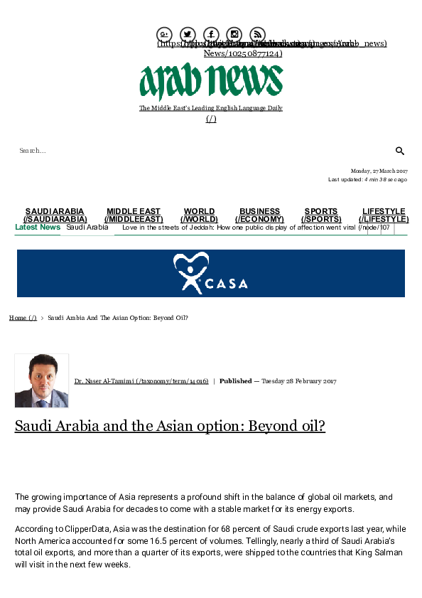 PDF) Saudi Arabia and the Asian option: Beyond oil | Naser Al-tamimi