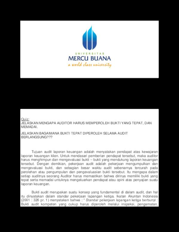 Pdf Audit Lanjutan Yenny Farlina Yoris Yudhi Herliansyah The Building Blocks Of Audit Umb 2017 Pdf Yenny F Yoris Academia Edu