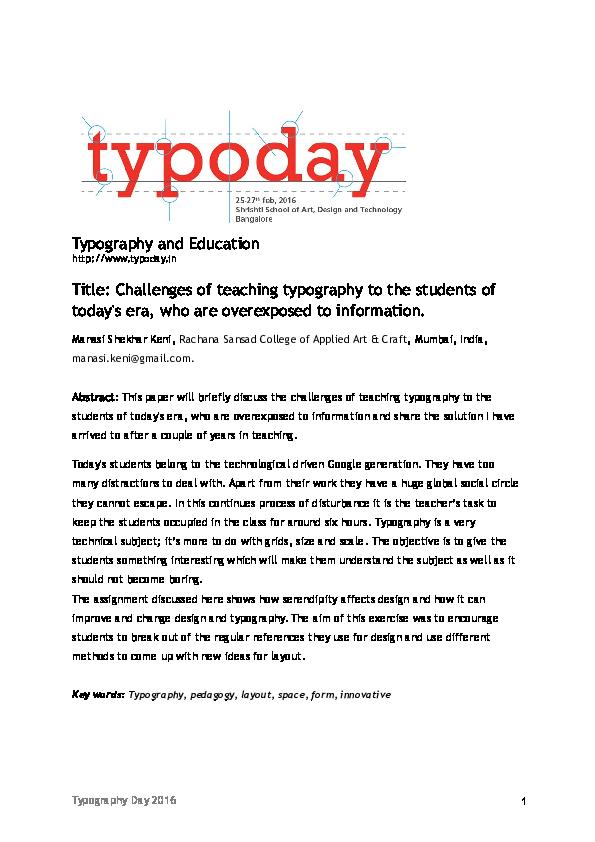 Doc Typoday2016 Full Paper Manasi Keni Academia Edu