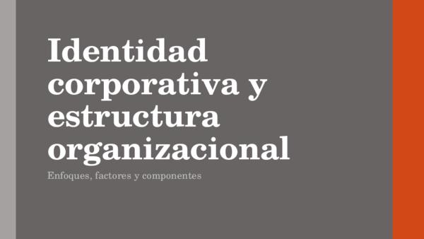 Ppt Identidad Corporativa Y Estructura Organizacional