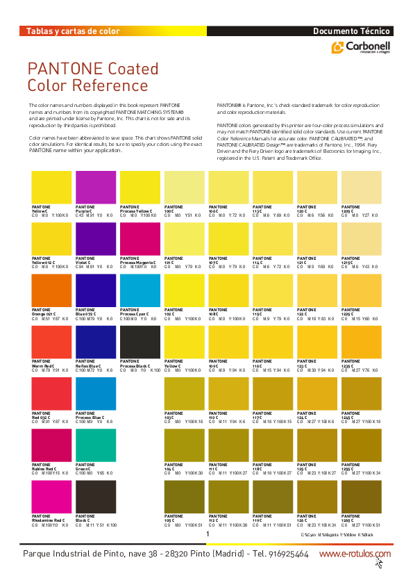 PDF) PANTONE Coated Color Reference | miguel angel