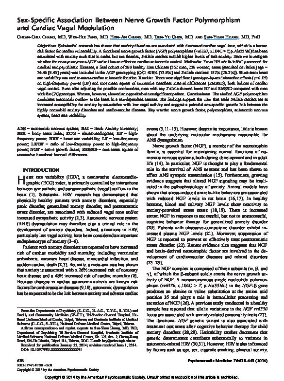 PDF) Sex-Specific Association Between Nerve Growth Factor
