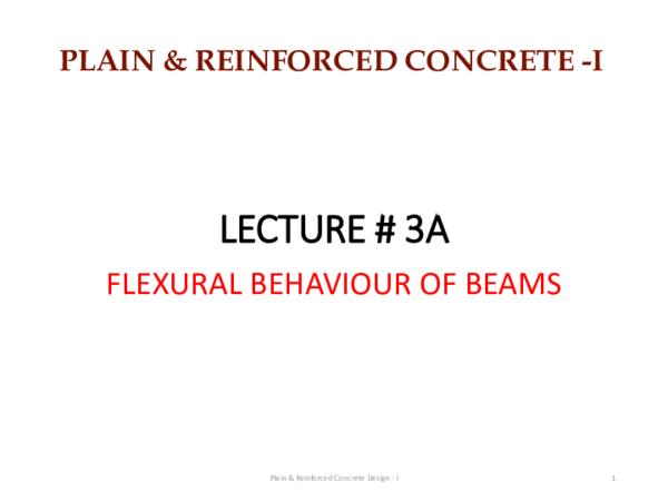 PDF) LECTURE # 3A PLAIN & REINFORCED CONCRETE -I | muhammad