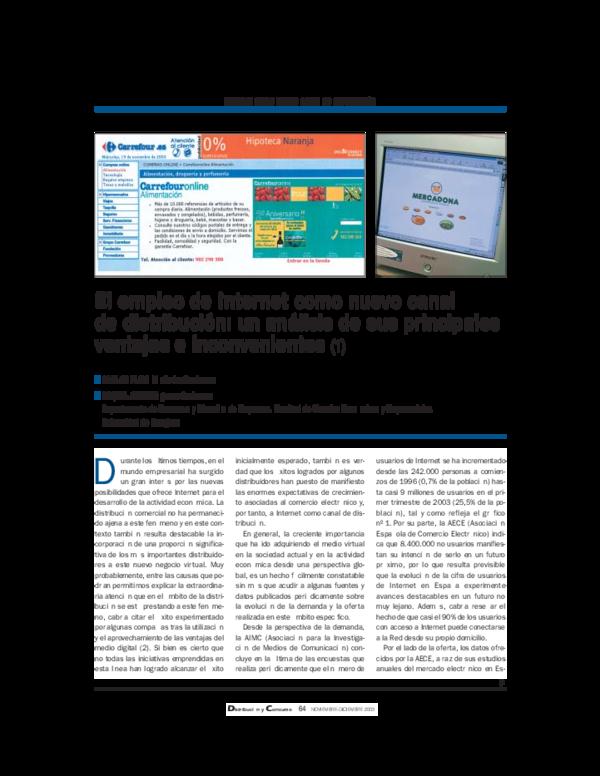 d70c3e9e7 PDF) El empleo de Internet como nuevo canal de distribución  un ...