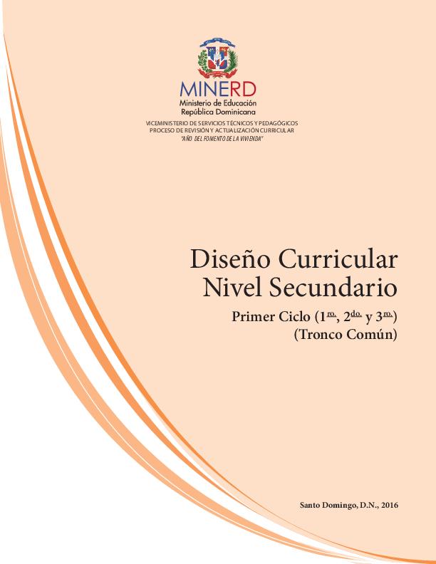 Pdf Diseño Curricular Nivel Secundario Primer Ciclo 1 Ro
