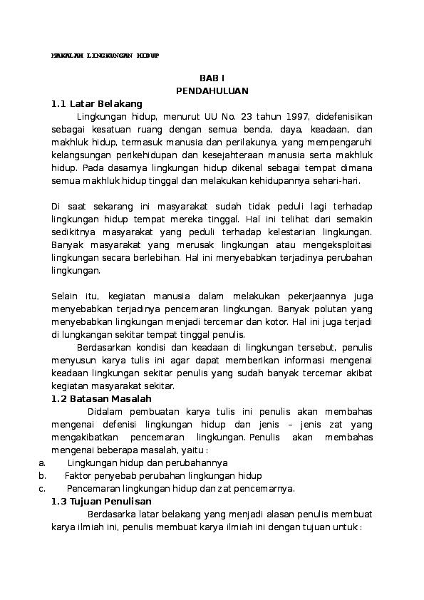 Doc Makalah Lingkungan Hidup Docx Yulius Gono Ate Academia Edu