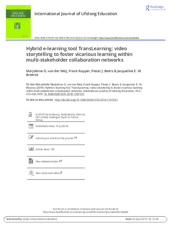 PDF) Hybrid e-learning tool TransLearning: video