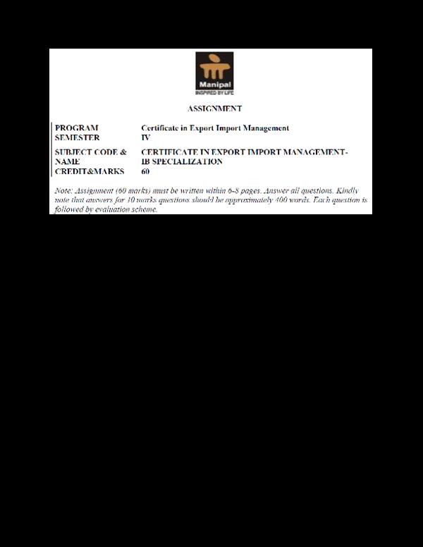 PDF) IB0014 assignment EXIM certificate 1 | AMIT KAPRI - Academia edu