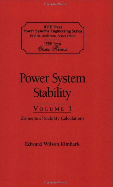 Power System Stability Kimbark Pdf
