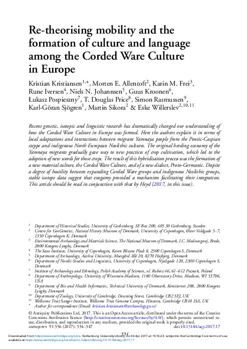 PDF) Re-theorising mobility and the formation of culture and