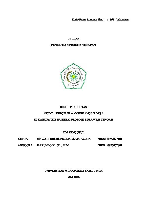 Judul Skripsi Akuntansi Keuangan Desa Ide Judul Skripsi Universitas
