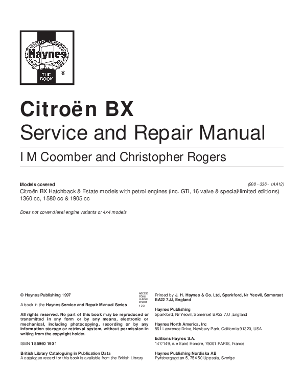 pdf) citroën bx service and repair manual living with your citroenCitroen Bx Body Electrical System 8211 Service And Troubleshooting #4