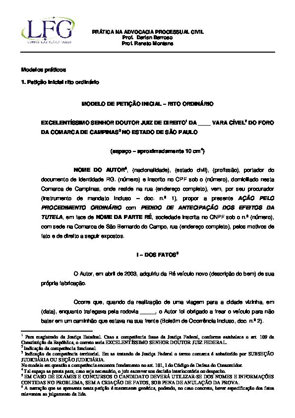 Pdf Prática Na Advocacia Processual Civil Modelos Práticos