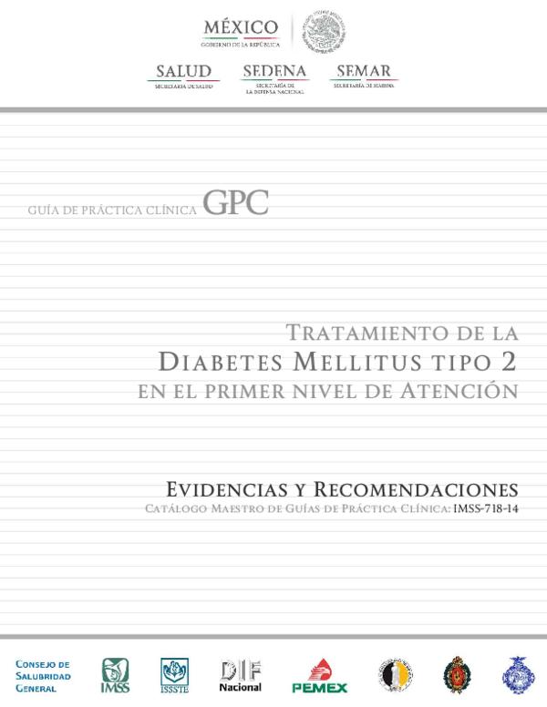 guia de practica clinica diabetes 2020 imss