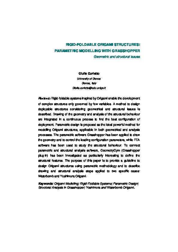 PDF) Simulation of Rigid Origami | 842x595