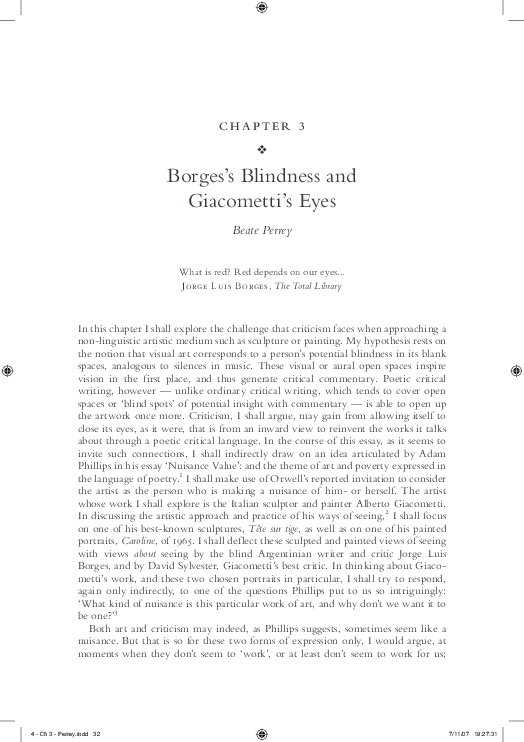 Borges essay blindness do my music dissertation abstract