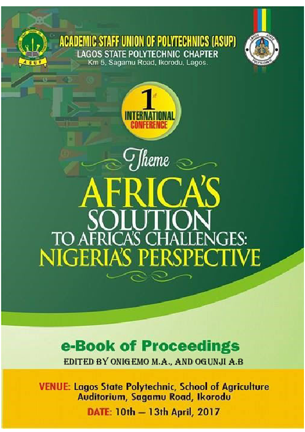 PDF) Proceedings of ASUP International Conference | Onigemo M