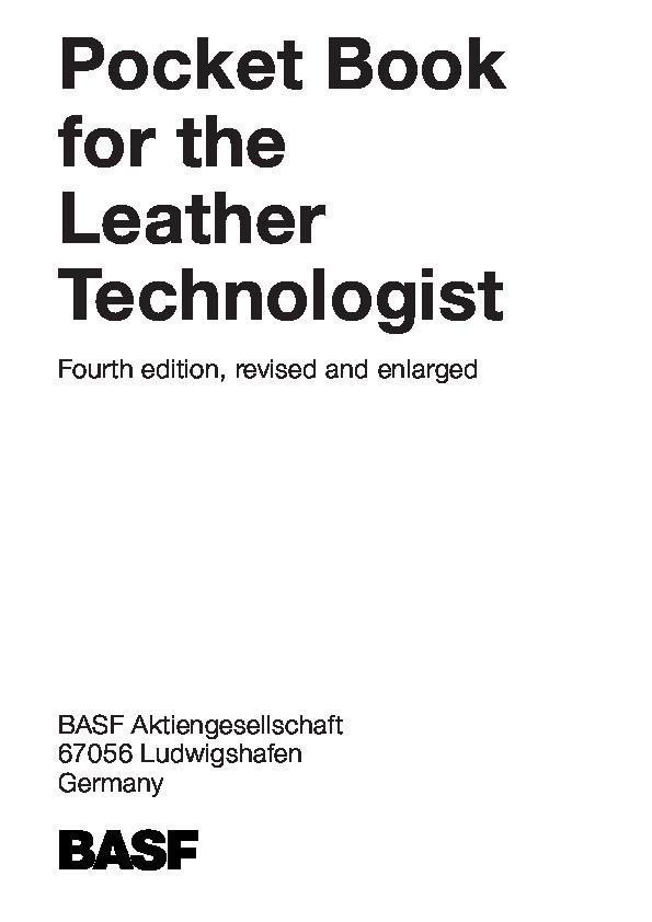 PDF) Book-for-Leather(BASF).pdf | guven kizilkaya - Academia.edu