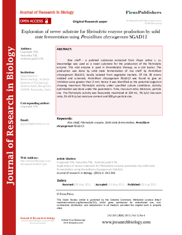 PDF) Journal of Research in Biology - Volume 1 Issue 4.pdf ...