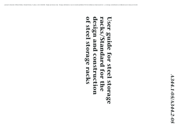 (PDF) User guide for steel storage racks/Standard for the