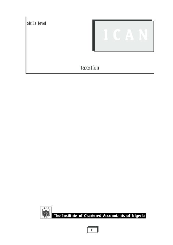 PDF) Introduction to Taxation   emmanuel Godwin - Academia edu
