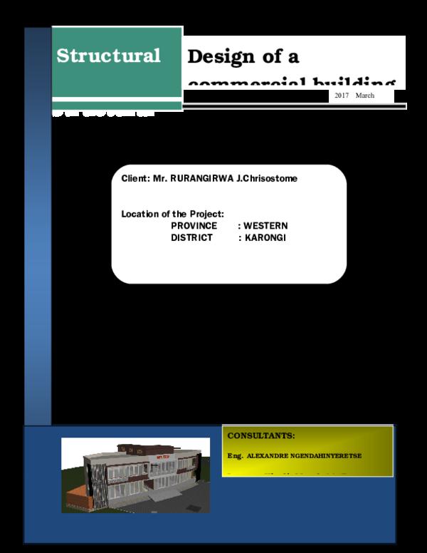 DOC) NOTE DE CALCUL | Alexandre Ngendahinyeretse - Academia edu