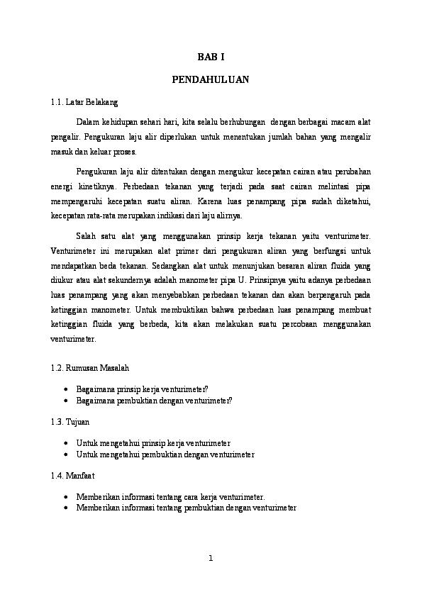 (DOC) Makalah Venturimeter Fisika.docx | Rama Ardiana ...