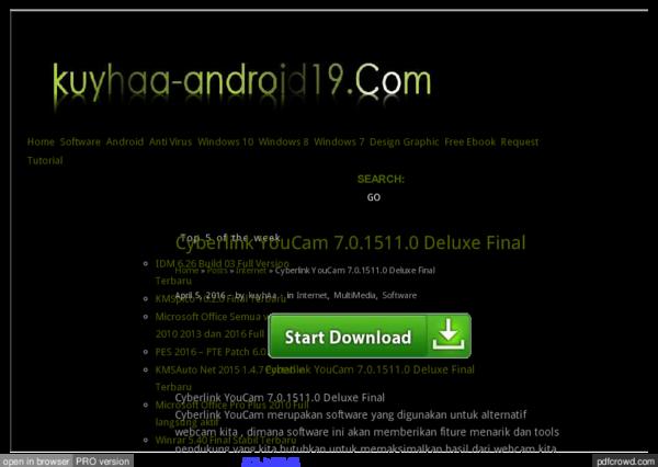 Pdf Www Kuyhaa Android19 Com Cyberlink Youcam Deluxe Full Html Masalah Baru Academia Edu