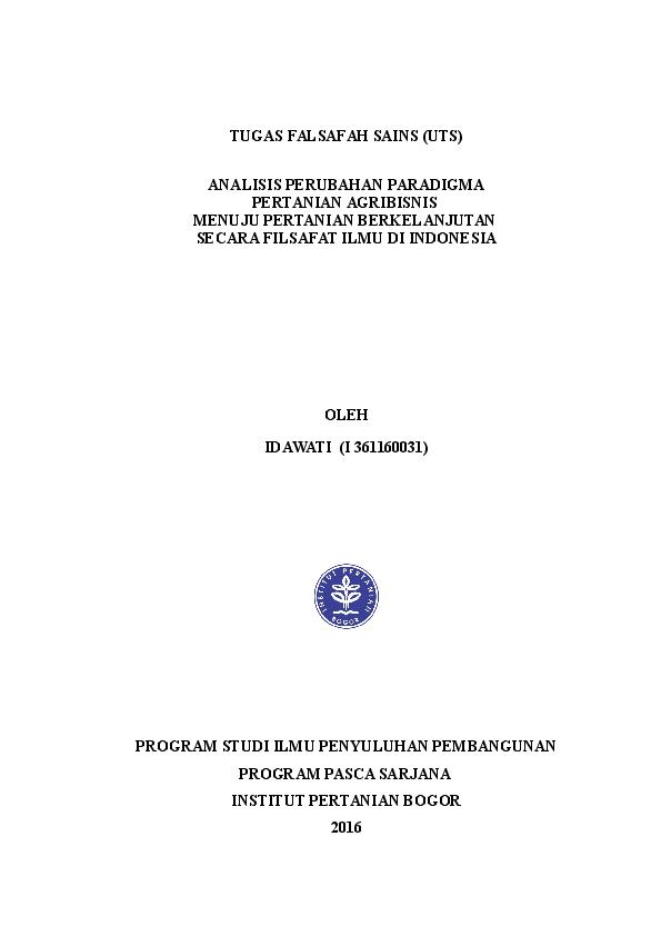 (DOC) MAKALAH UTS FILSAFAT ILMU.docx | idawati salama ...