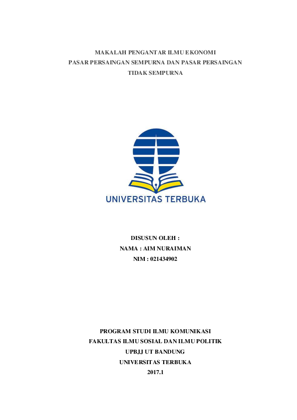 Pdf Makalah Pengantar Ilmu Ekonomi Aim Nuraiman Academia Edu