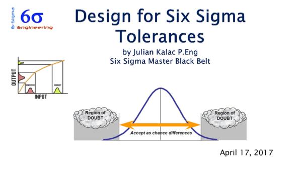 PDF) DESIGN Six Sigma tolerances   Julian Kalac, P Eng