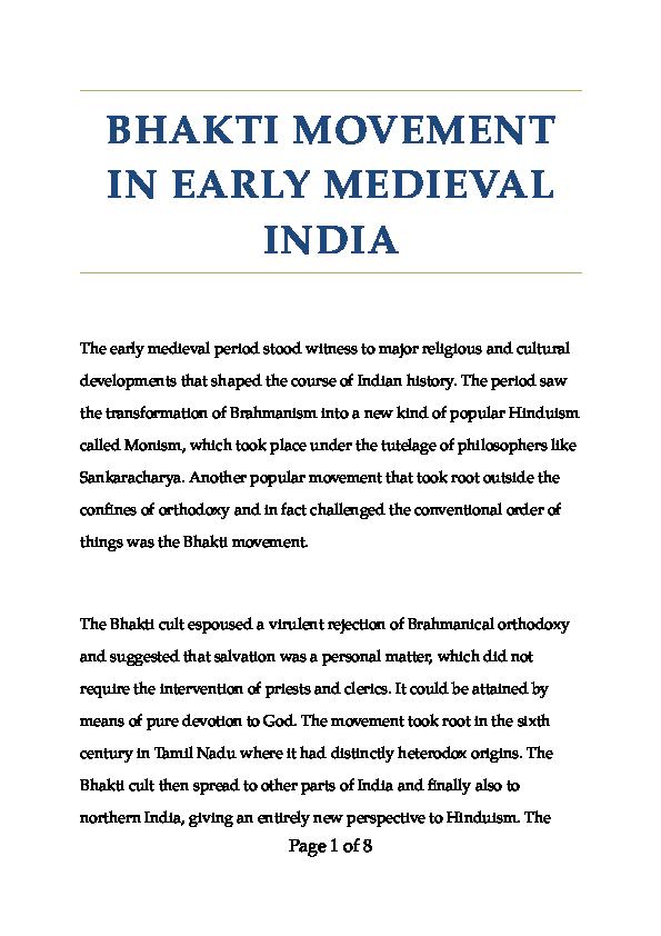 DOC) Bhakti Movement | Ramita Udayashankar - Academia edu