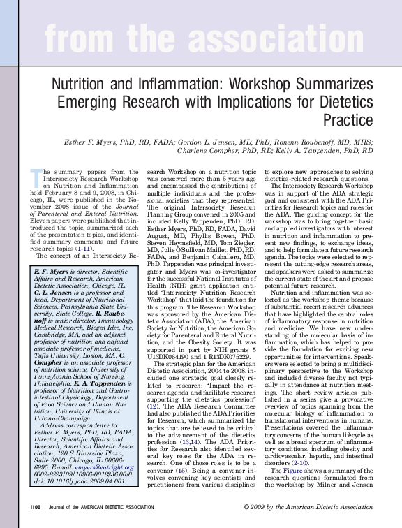 PDF) Nutrition and Inflammation: Workshop Summarizes Emerging