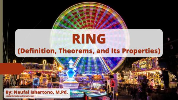 PDF) Ring, Subring, Ideal, Homomorphism (Definition