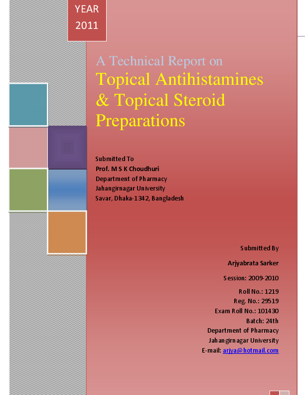 PDF) A Technical Report on Topical Antihistamines & Topical