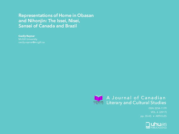 PDF) Representations of Home in Obasan and Nihonjin: The