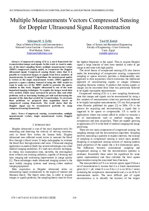 PDF) Multiple measurements vectors compressed sensing for Doppler
