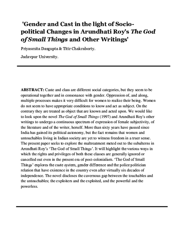 The Cost Of Living Arundhati Roy Pdf