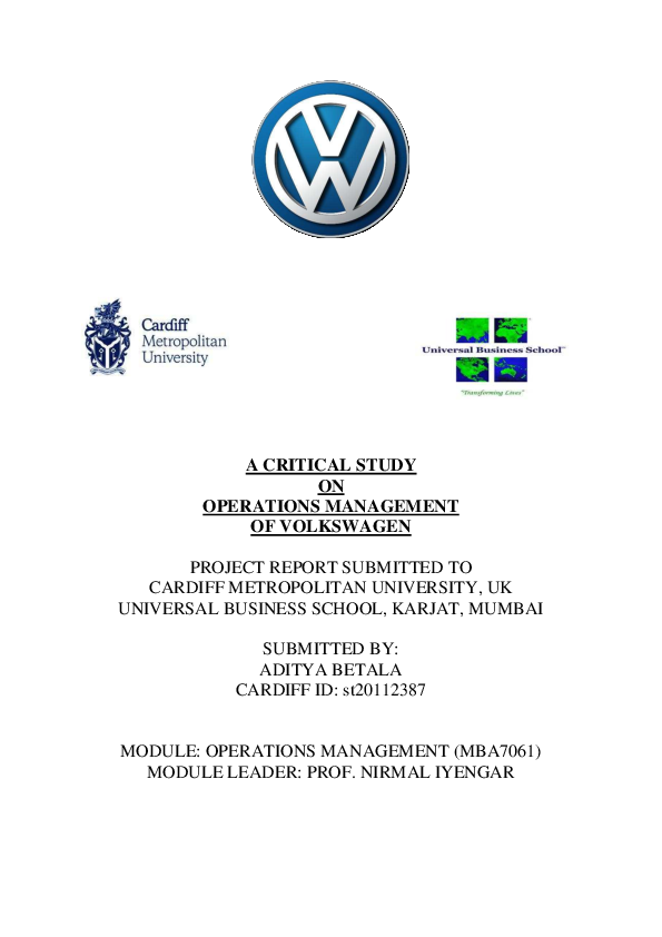 case study 3.8 volkswagens supervisory board