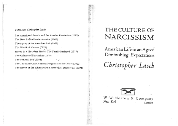 PDF) BOOKS BY Christopher Lasch The New Radicalism in