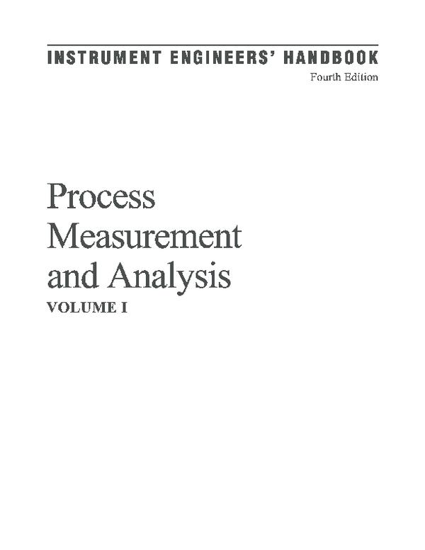 PDF) Instrumentation engineers handbook   vaishnavi vijayakumar